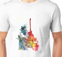 Watercolour and Fine Liner Triangles Unisex T-Shirt
