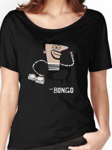 Le Bongo: Beatnik playing the bongos cartoon Women's Relaxed Fit T-Shirt