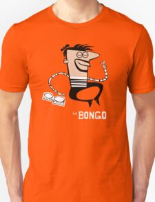 Le Bongo: Beatnik playing the bongos cartoon T-Shirt