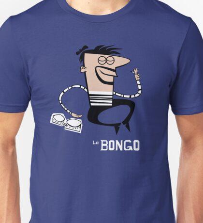 Le Bongo: Beatnik playing the bongos cartoon Unisex T-Shirt