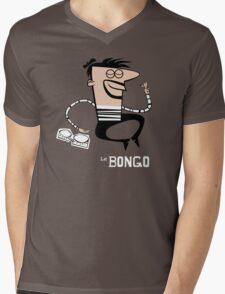 Le Bongo: Beatnik playing the bongos cartoon Mens V-Neck T-Shirt