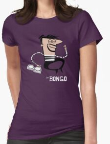 Le Bongo: Beatnik playing the bongos cartoon Womens Fitted T-Shirt
