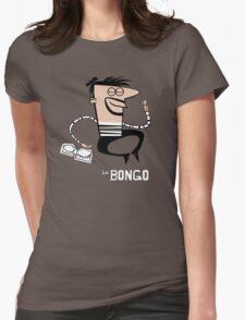 Le Bongo: Beatnik playing the bongos cartoon Womens Fitted T-Shirt