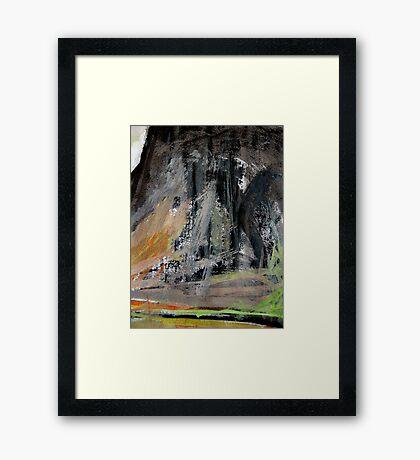 peak cliff.... clear day Framed Print