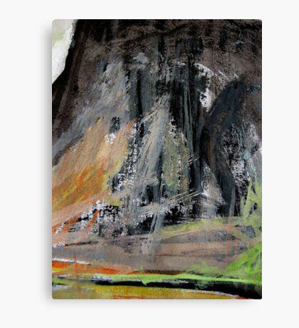 peak cliff.... clear day Canvas Print