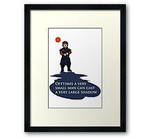 Small Man, Large Shadow Framed Print