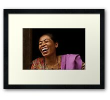 A Real Portrait Framed Print