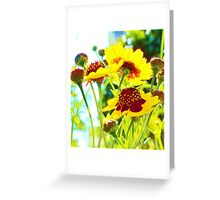 PRETTY CLUSTER FLOWERS Greeting Card