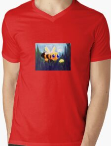 The Bumblebee and the Flower Mens V-Neck T-Shirt