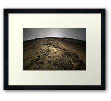 Climbing Mt Doom Framed Print