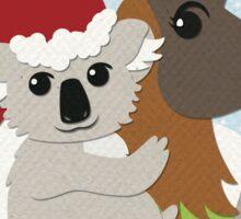 Koa-Llama Holidays Sticker