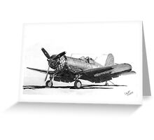 Chance Vought F4U-1A Corsair Greeting Card
