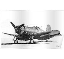 Chance Vought F4U-1A Corsair Poster