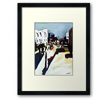 Abstract city shapes Framed Print