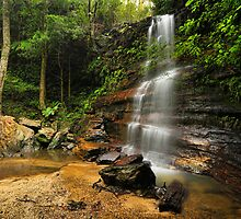 Federal Falls, South Lawson in the Blue Mountains NSW by Jennifer Bailey