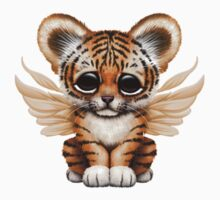Cute Baby Tiger Cub with Fairy Wings  One Piece - Long Sleeve