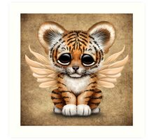 Cute Baby Tiger Cub with Fairy Wings  Art Print