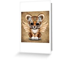 Cute Baby Tiger Cub with Fairy Wings  Greeting Card