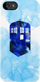 Tardis Watercolor by cluper