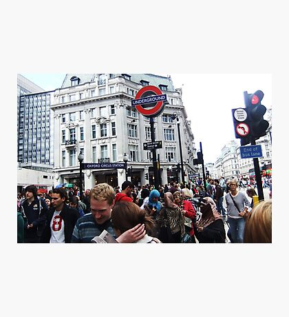 Oxford Circus Station Photographic Print