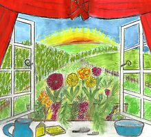 view from little girls bedroom by Hbeth