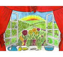 view from little girls bedroom Photographic Print