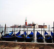 Venetian Gondolas by jlv-