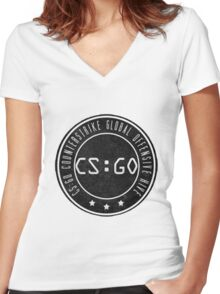 Counter strike Women's Fitted V-Neck T-Shirt