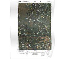 USGS Topo Map Washington State WA Willard 20110509 TM Poster