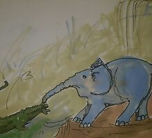 How the elephant got his nose  by Dontpaintlike