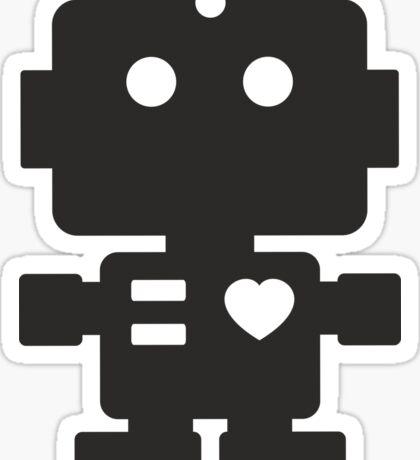 Robot - Simple Black Sticker