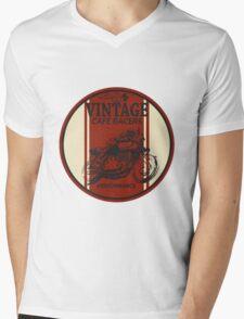 Vintage Cafe Racer Mens V-Neck T-Shirt