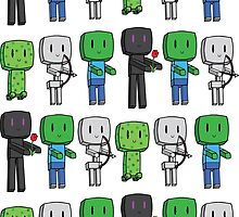 Minecraft Mobs by lovefromjessie