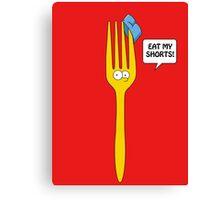 Eat My Shorts - Bart Simpson Canvas Print