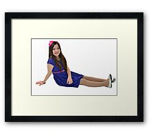 Attractive ten year old girl Framed Print