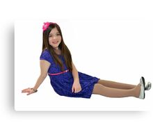 Attractive ten year old girl Canvas Print