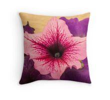 Pink Petuna Throw Pillow