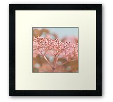 dreamy floral abstract Framed Print