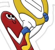 Hot Dog Love Sticker
