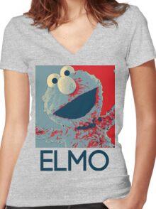 ELMO Women's Fitted V-Neck T-Shirt