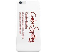 Cumberspotting iPhone Case/Skin
