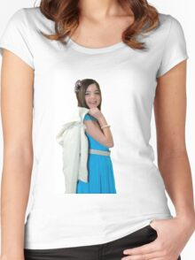 Ten year old girl Women's Fitted Scoop T-Shirt