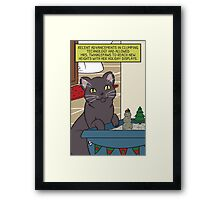 Mrs. Twinklepaws' Holiday Display Framed Print