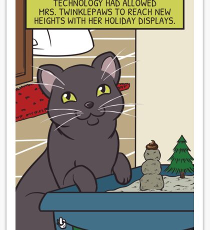 Mrs. Twinklepaws' Holiday Display Sticker