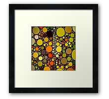 hipster fashion autumn colors brown green orange circles Framed Print