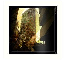 Surrounded by highrise buildings Art Print