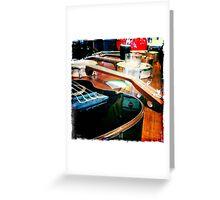Ukuleles on a bar Greeting Card