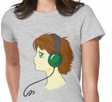 headfones gurl Womens Fitted T-Shirt