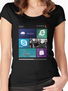 Windows 8: Metro UI Interface Women's Fitted Scoop T-Shirt