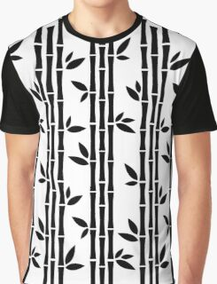 Black and white Bamboos Graphic T-Shirt